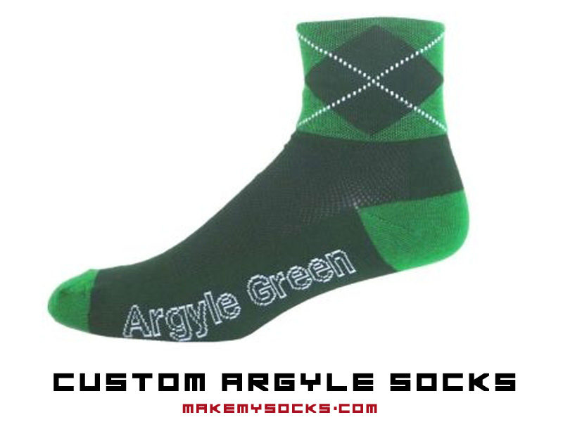 custom argyle socks